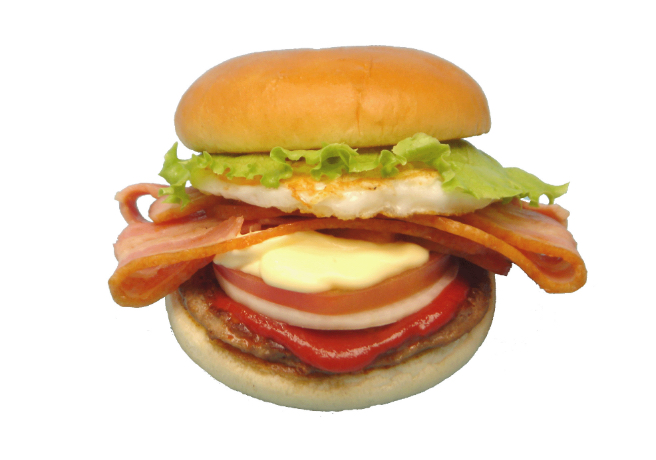 Bacon egg burger
